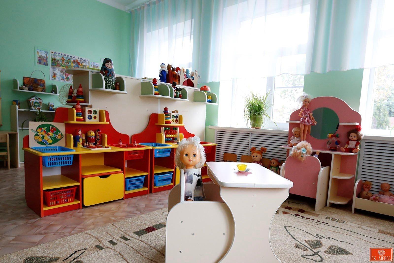 Какая мебель нужна для игровой комнаты в детсаде